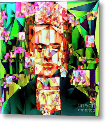 Frida Kahlo In Abstract Cubism 20170326 V3 Square Metal Print