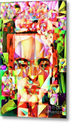 Frida Kahlo In Abstract Cubism 20170326 V4 Metal Print