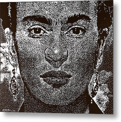 Frida Khalo Metal Print by Max Eberle