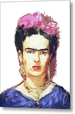 Frida Metal Print by Russell Pierce