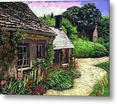 Friendly Cottage Metal Print by David Lloyd Glover