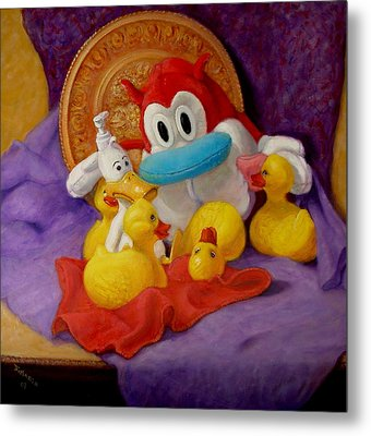 Metal Print featuring the painting Friends by Donelli  DiMaria