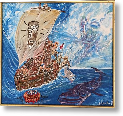 Friggin In The Riggin - Kon Tiki Expedition Metal Print