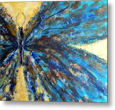 Fringed Metal Print by Mary Arneson