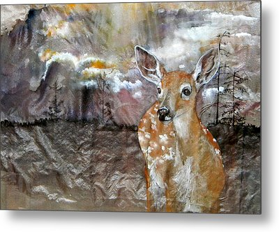 Metal Print featuring the painting From My Eyes I See by Debbi Saccomanno Chan