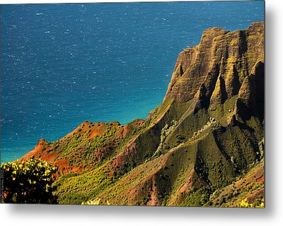 Metal Print featuring the photograph From The Hills Of Kauai by Debbie Karnes