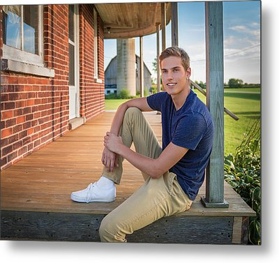 Metal Print featuring the photograph Front Porch Portrait by Bill Pevlor