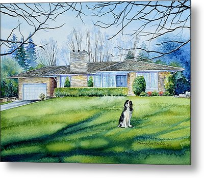 Front Yard Protection Metal Print by Hanne Lore Koehler