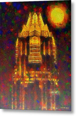 Frost Bank Austin Colorful - Da Metal Print