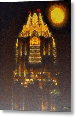 Frost Bank Austin - Pa Metal Print by Leonardo Digenio