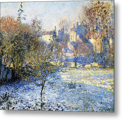 Frost Metal Print by Claude Monet