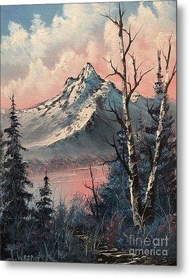 Frosty Mountain  Metal Print