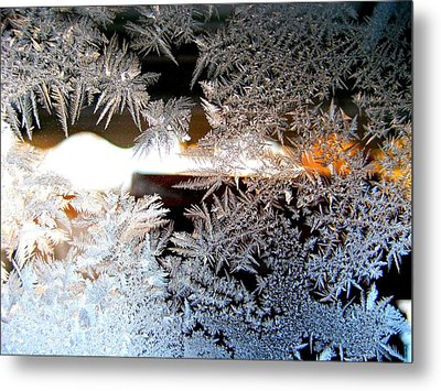 Frozen Design Metal Print by Shirley Sirois