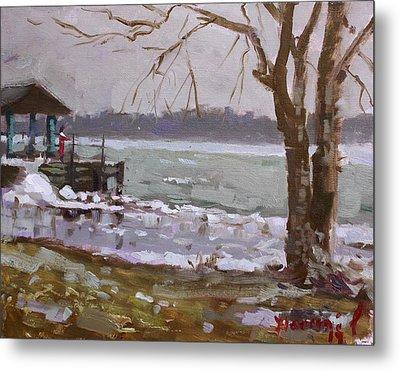 Frozen Niagara River Metal Print by Ylli Haruni