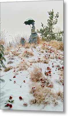 Frozen Viewpoint Metal Print by Timothy Hedges