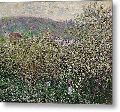 Fruit Pickers Metal Print by Claude Monet