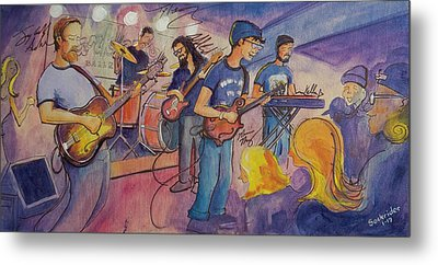 Metal Print featuring the painting Fruition At The Barkley Ballroom by David Sockrider