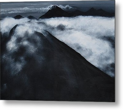 Fuego Volcano Metal Print by Patricia Ann Dees