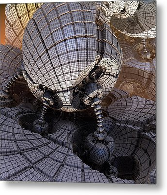 Metal Print featuring the digital art Fueling Station On Alpha I by Richard Ortolano
