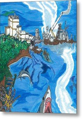 Fukushima Daiichi In Ruin Metal Print by Justin Chase