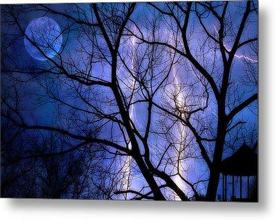 Full Moon Lighting Metal Print by Randy Steele