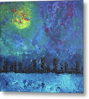 Full Moon Over Watercity Metal Print by Erik Tanghe