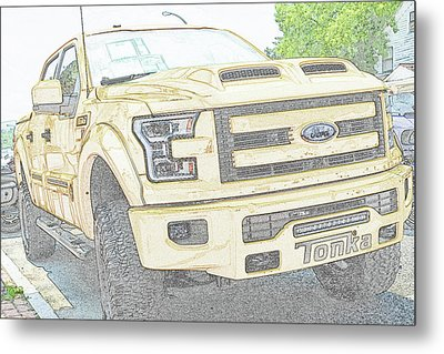 Metal Print featuring the photograph Full Sized Toy Truck by John Schneider
