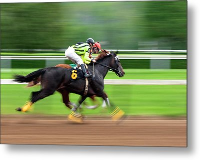 Full Stride Metal Print