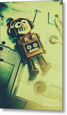Funky Mixtape Robot Metal Print by Jorgo Photography - Wall Art Gallery