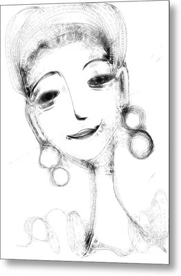 Funny Face Metal Print by Elaine Lanoue