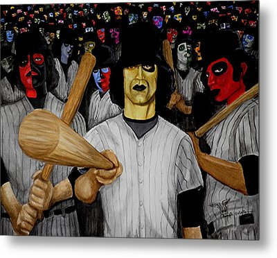 Furies Up To Bat Metal Print by Al  Molina