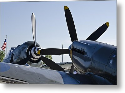 Fw190 And Spitfire Metal Print