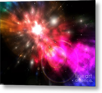 Metal Print featuring the digital art Galaxy Of Light by Phil Perkins