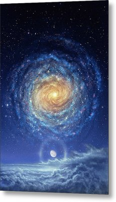 Galaxy Rising Metal Print by Don Dixon