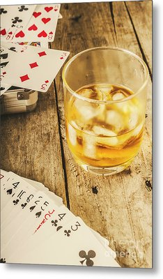 Gamblers Still Life Metal Print by Jorgo Photography - Wall Art Gallery
