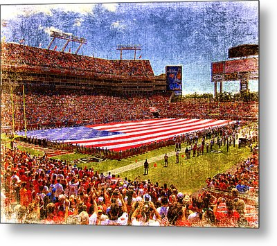Game Day Nine Eleven Tribute Metal Print by Andrew Armstrong  -  Mad Lab Images