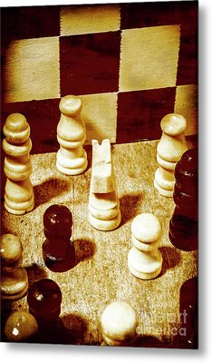 Game Of Chess And Tactics Metal Print