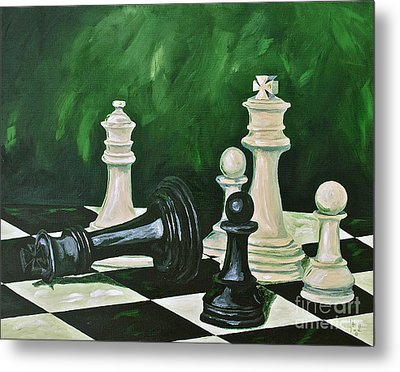 Game Over Metal Print by Herschel Fall