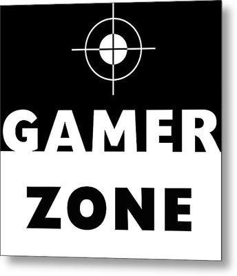 Gamer Zone- Art By Linda Woods Metal Print