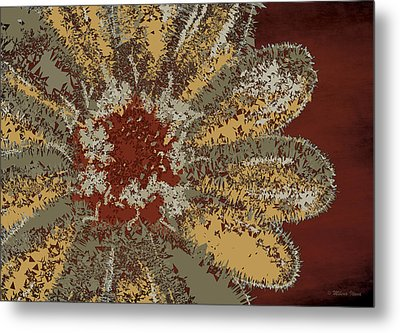 Metal Print featuring the digital art Garden Flower by Milena Ilieva