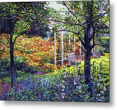 Garden For Dreaming Metal Print by David Lloyd Glover