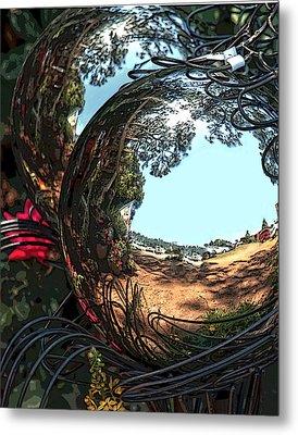 Garden Globe Metal Print