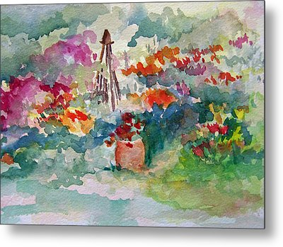 Garden Memories Metal Print by Sandy Collier