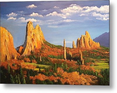 Garden Of The Gods Metal Print by Connie Tom