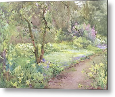 Garden Path Metal Print by Mildred Anne Butler