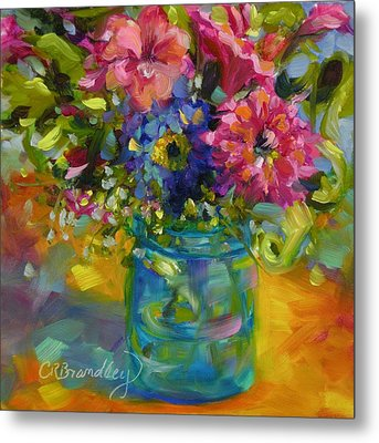 Metal Print featuring the painting Garden Treasures by Chris Brandley
