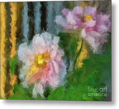 Metal Print featuring the digital art Garden Variety by Lois Bryan