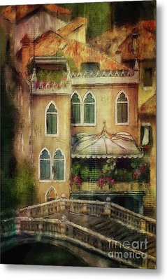 Metal Print featuring the digital art Gardening Venice Style by Lois Bryan