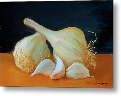 Garlic 01 Metal Print by Wally Hampton