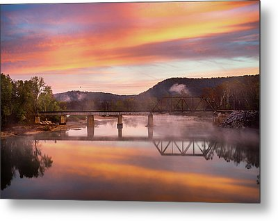 Gasconade River Sunrise Metal Print by Jae Mishra